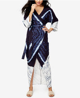 Rachel Roy Tie-Dyed Maxi Wrap Dress, Only at Macy's