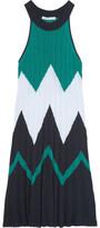 Autumn Cashmere Intarsia Cotton Mini Dress