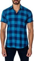 Jared Lang Short Sleeve Plaid Semi-Fitted Shirt