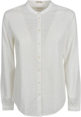 Massimo Alba Perforated Pattern Shirt