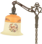 Rejuvenation Ornate Bridge Floor Lamp w/ Pheasant Shade