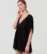 LOFT Beach Lacy Caftan Dress