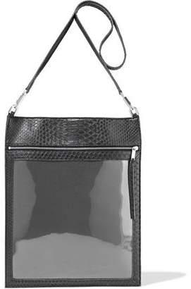 Rick Owens Security Pocket Pvc-paneled Python Shoulder Bag