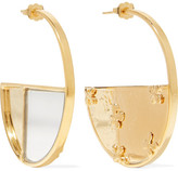 Aurelie Bidermann Bianca Gold-plated Mirrored Earrings