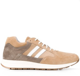 Eleventy Colour-Block Low-Top Sneakers