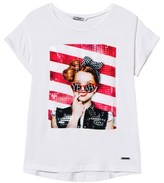 Mayoral White Yeah Sequin Tee