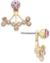INC International Concepts Gold-Tone Blush Stone Front and Back Earrings, Created for Macy's