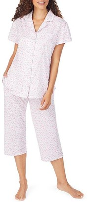 Eileen West Bolinas Rosa Knit Capri Pajama Set