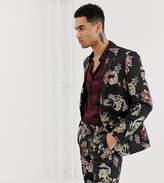 Heart & Dagger skinny suit jacket in metallic floral