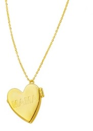 ADORNIA Heart Locket Necklace with Engraved Mama