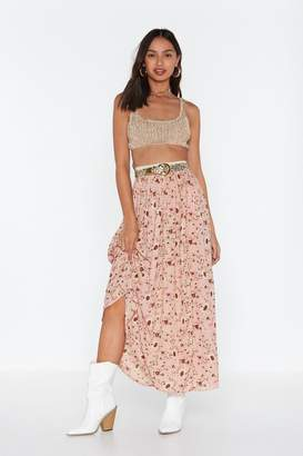 Nasty Gal Womens Make Some Bloom Floral Maxi Skirt - Pink - L, Pink