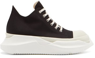 Rick Owens Abstract Exaggerated-sole Canvas Trainers - Black White