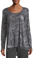 Allen Allen Long-Sleeve Graphic-Print Tunic