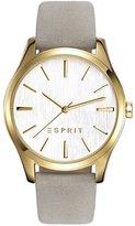 Esprit Women's 36mm Gold-Tone Leather Band Steel Case Quartz Watch Es108132002