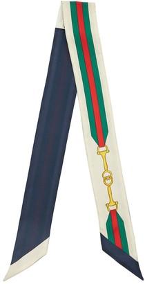 Gucci Printed Silk Twill Mini Scarf