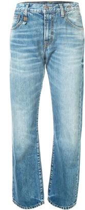 R 13 High Rise Straight-Leg Jeans