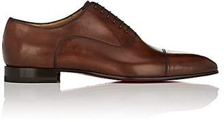 Christian Louboutin Men's Greggo Flat Leather Balmorals - Brown