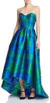 Paule Ka Strapless High/Low Gown
