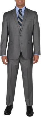 Kenneth Cole Reaction Basketweave Two Button Notch Lapel Techni-Cole Performance Slim Fit Suit