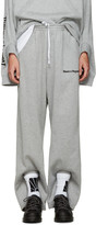 Gosha Rubchinskiy Grey Double Cuff Lounge Pants