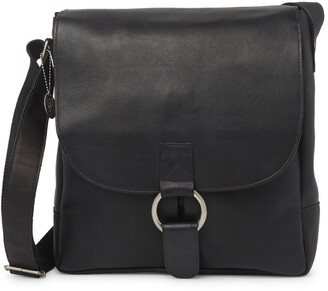 David King & Co Vertical Laptop Leather Messenger Bag