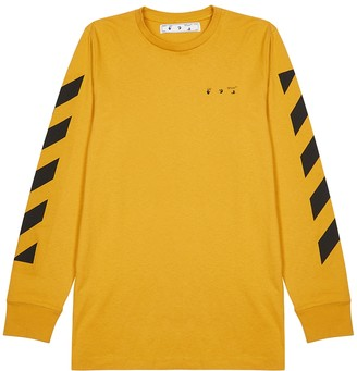 Off-White Pencil Arch mustard printed cotton top