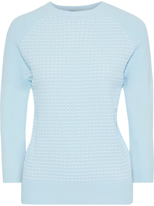 Autumn Cashmere Perforated Stretch-knit Sweater
