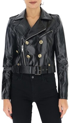 Givenchy 4G Button Leather Biker Jacket