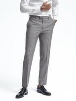 Banana Republic Standard Gray Houndstooth Wool Suit Trouser