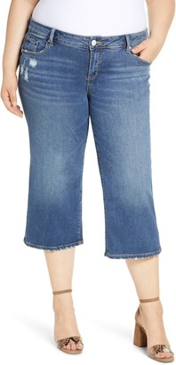 SLINK Jeans Distressed Wide Leg Capri Jeans