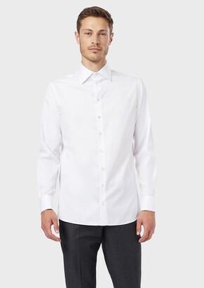 Giorgio Armani Lustrous, French-Collared Shirt