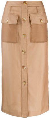REJINA PYO buttoned straight skirt