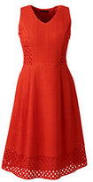 Classic Women's Plus Size Sleeveless Embroidered A-line Dress-Zesty Orange