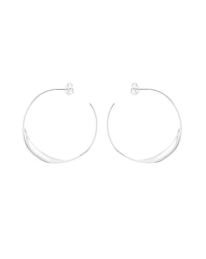 Fashion World Single Twist Hoop Earrings