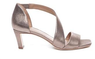 Bernardo Camille Metallic Cross-Strap Sandal