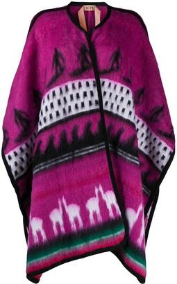No.21 Patterned Intarsia Knit Oversized Cardigan