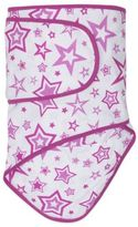 Miracle Blanket Swaddle in Orchid Stars with Orchid Trim