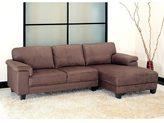Abbyson Camden Dark Brown Microsuede Sectional Sofa