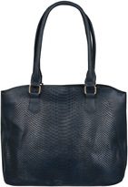 Yours Clothing Navy Textured Shopper Bag