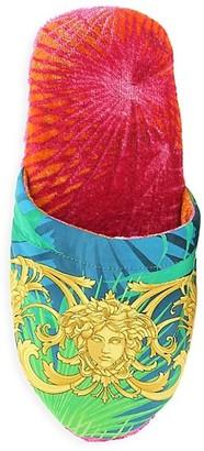 Versace Medusa Leaf Bath Slippers