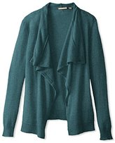 Cashmere Addiction Women's Long Sleeve Open Cardigan Sweater