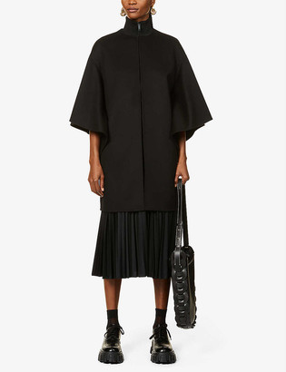 Valentino Scoop-neck cashmere cape