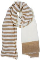 Stefanel Striped Linen Scarf