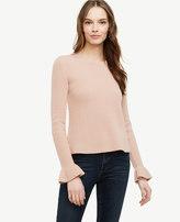 Ann Taylor Ruffle Cuff Wool Cashmere Sweater