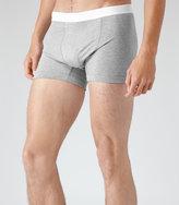 Reiss Reiss Ace - Cotton Trunks In Grey, Mens