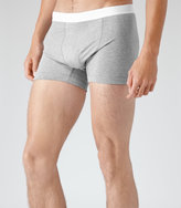 Reiss Reiss Ace - Cotton Trunks In Grey