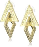 Yochi 14k Gold Plated Geometric Earrings