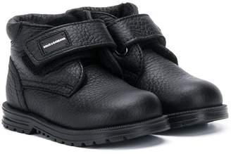 Dolce & Gabbana round toe boots