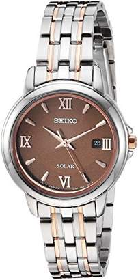 Seiko Women's SUT349 Ladies Dress Analog Display Japanese Quartz Silver Watch
