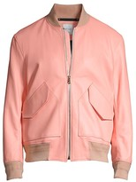 Paul Smith Patch Pocket Leather Bomber Jacket